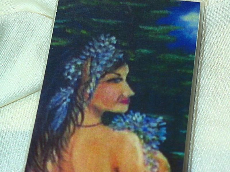 laminated and double sided bookmark from my original artwork elf indian maiden - product images  of