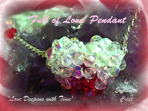 Love,Deepens,ruby,Full,of,beaded,celestial,crystal,heart,necklace,weddings,pendant,love,swarovski,romantic,valentine,jewelry,red,pink,valentine39s_day,celestial_crystal,swarovski_crystal,fireline,silver_plated_chain,lobster_claw_clasp