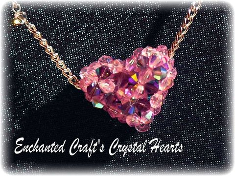 rose,quartz,PINK,Full,of,Love,beaded,celestial,crystal,heart,necklace,jewelry,pendant,glass,love,pink,purple,swarovski,wedding,romantic,celestial_crystal,swarovski_crystal,fireline,silver_plated_chain,toggle_clasp