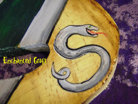 Harry,Potter,SLYTHERIN,House,Letter,'S'-,Show,Your,PRIDE-,personalize,this,for,free,Geekery,Housewares,Home_Decor,harry_potter,house,hogwarts,hp,onfire,painted,magic,wizard,snake,slytherin,letter,sign,wood,paint