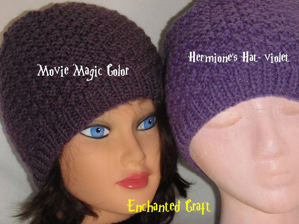 Hermiones hat carefully recreated from Harry Potter and the Deathly Hall...