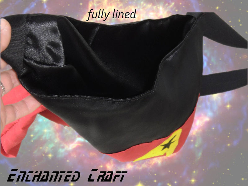 Red Shirt Star Trek TOTE- fully lined - product images  of