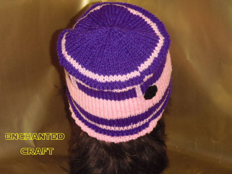 Geek Girl Knitted R2-D2 Beanie Hat for the Star Wars Fan in pink, purple - product images  of