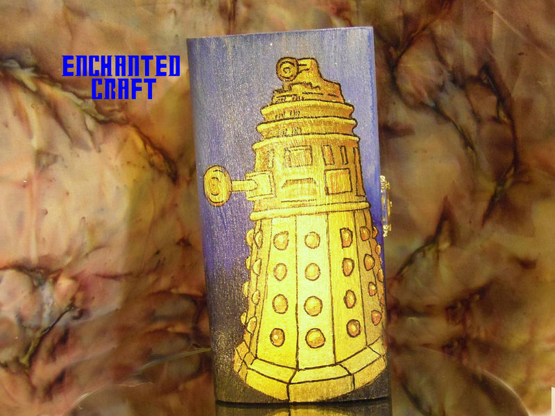 DALEK box for the Dr. WHO fan in blue and gold - product images  of