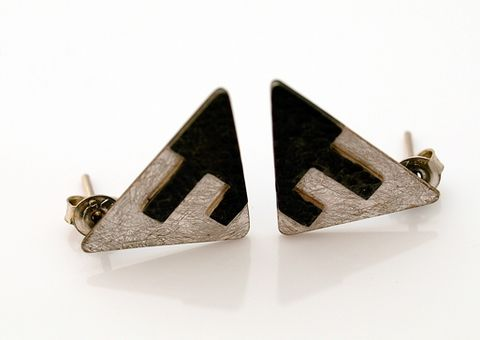 Triangles,|,Silver,Stud,Earrings,Silver Stud Earrings, Handmade Jewellery