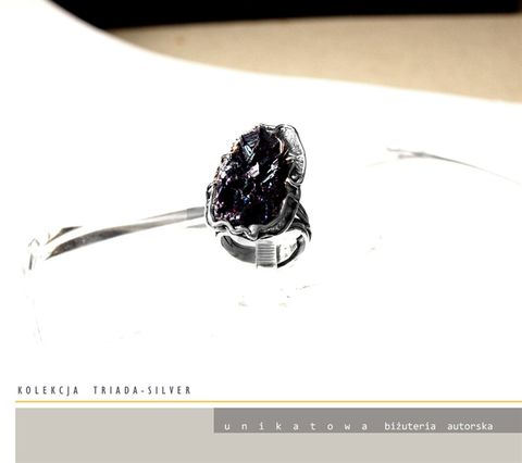 Frei,|,Silver,Ring,With,Carborundum,Silver Ring With Carborundum, Silver Jewellery