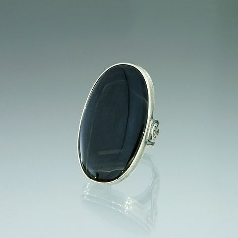 Baudwin,From,Bretania,|,SILVER,Ring,With,Onyx,Silver Ring, onyx ring, contemporary jewellery