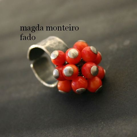 Juicy,Oranges,|,SILVER,CORAL,CLUSTER,RING,Silver Ring, coral cluster ring, silver bespoke jewellery