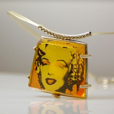 Some,Like,It,Hot,|,SILVER,PENDANT,With,AMBER,&,SWAROVSKI,CRYSTALS,SILVER Pendant With Swarovski Crystals, amber jewellery