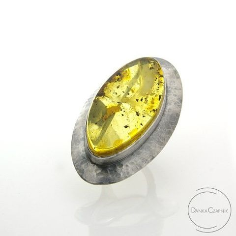 Eurydice,|,Silver,Ring,With,Baltic,Amber,Silver Ring With Baltic Amber, Handmade Jewellery, Silver Jewellery