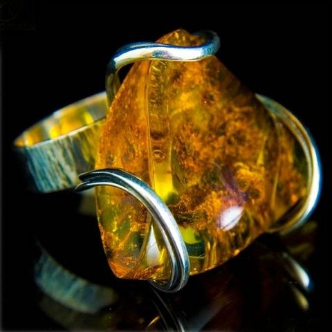 Sterling,Silver,Ring,With,Amber,Silver Ring With Amber, Amber Jewellery, Unique Jewellery