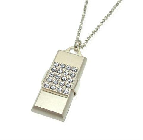 LUXDRIVE,P23,|,USB,Pendant,With,Swarovski,Crystal,USB Drive, Pendant With Swarovski Crystal, WOMEN Jewellery