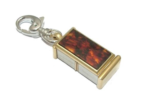 LUXDRIVE,P27,|,USB,Keychain,With,Amber,,Gold,USB Drive, Keychain With Gold, HANDMADE Jewellery