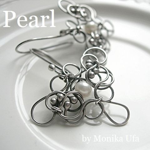 Inspire,|,Silver,Earrings,With,Pearls,Silver Earrings, Earrings with Pearls, Handmade Bridal Jewellery London