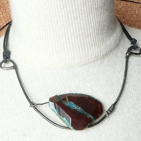AGATE,In,The,Frame,|,CHOKER,NECKLACE,Agate Necklace, choker necklace, unique handmade jewellery