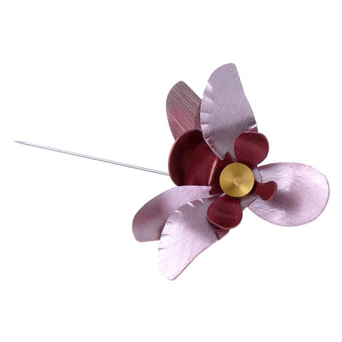 Pink,Orchid,|,Aluminium,Pin,With,Silver,Aluminium Pin With Silver, Handmade Jewellery