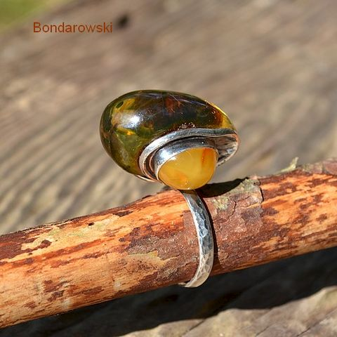 SILVER,FILIGREE,RING,With,AMBER,Silver Filigree Ring With Amber, Silver Jewellery