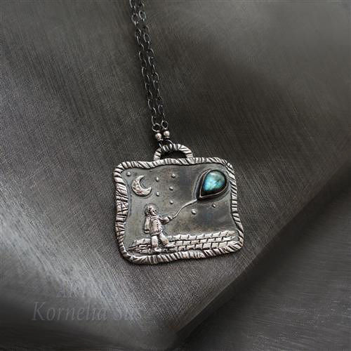 Balloon With Dreams | SILVER PENDANT NECKLACE With LABRADORITE - product images  of