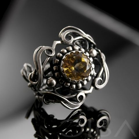 Cilia,|,SILVER,RING,With,CITRINE,Silver Ring With Citrine, Artisan Jewellery