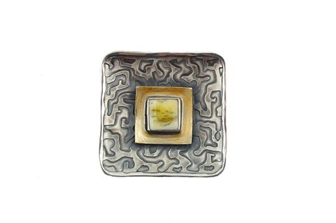 Milano,|,SILVER,Pin,Brooch,With,Amber,Silver Pin, Amber brooch, Sliver Jewellery London, gift idea