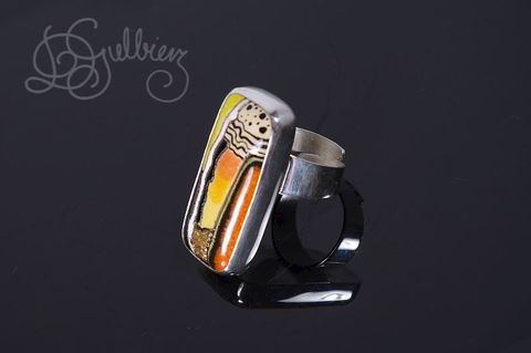 Carpe,Diem,|,Colourful,CERAMIC,SILVER,RING,Colourful Ceramic Ring, silver ring, handmade bespoke jewellery