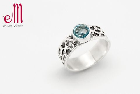 Solo,V,|,SILVER,Ring,With,Blue,Topaz,SILVER Rings With Blue Topaz, silver handmade jewellery