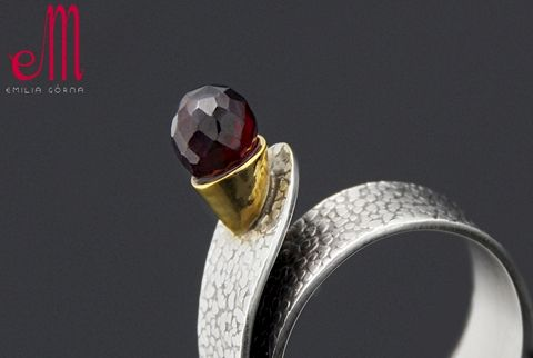 Solo,I,|,SILVER,Ring,With,Garnet,SILVER Ring With Garnet, handmade jewellery