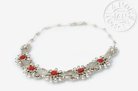 Rosarium,Barkarole,|,SILVER,NECKLACE,With,GEMSTONES,&,PEARL,SILVER Necklace With Moonstone, pearl jewellery
