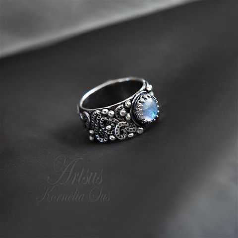 For,The,Seventh,Planet,|,SILVER,Ring,With,Moonstone,SILVER Ring With Moonstone, HANDMADE Jewellery