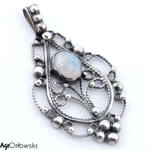 Tree,Of,Life,|,Silver,Pendant,With,Moonstone,Silver Pendant With Moonstone, Silver Jewellery, Tribal Jewellery