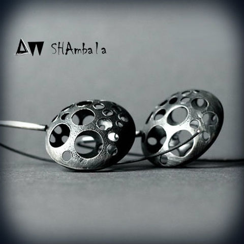 Bada,|,OXIDISED,SILVER,DANGLE,EARRINGS,Silver Dangle Earrings, oxidised earrings, bespoke jewellery store