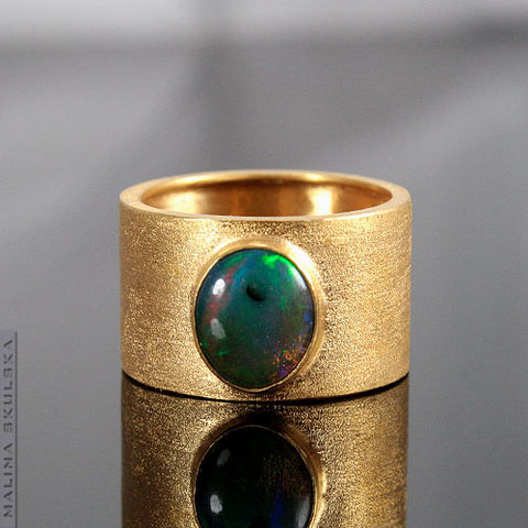 Gold,Plated,Ring,With,Opal,Gold Plated Ring With Opal, silver handmade jewellery