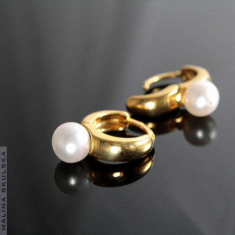 Gold,Plated,Earrings,With,Pearls,Gold Plated Earrings With Pearls, handmade jewellery united kingdom