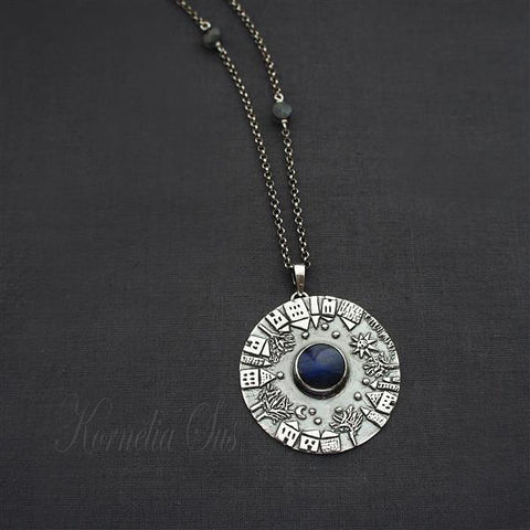 Dreaming,City,|,Silver,Necklace,With,Spectrolite,,Labradorite,Necklace With Spectrolite, Silver Jewellery