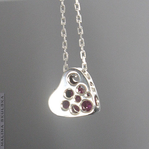 Openwork,Heart,|,Silver,Necklace,With,Cubic,Zirconia,Openwork Heart Silver Necklace With Cubic Zirconia, silver handmade jewellery