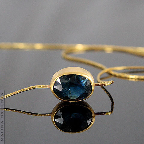 Blue,Sapphire,Gold,Plated,Pendant,Blue Sapphire Gold Plated Pendant, gold plated jewellery