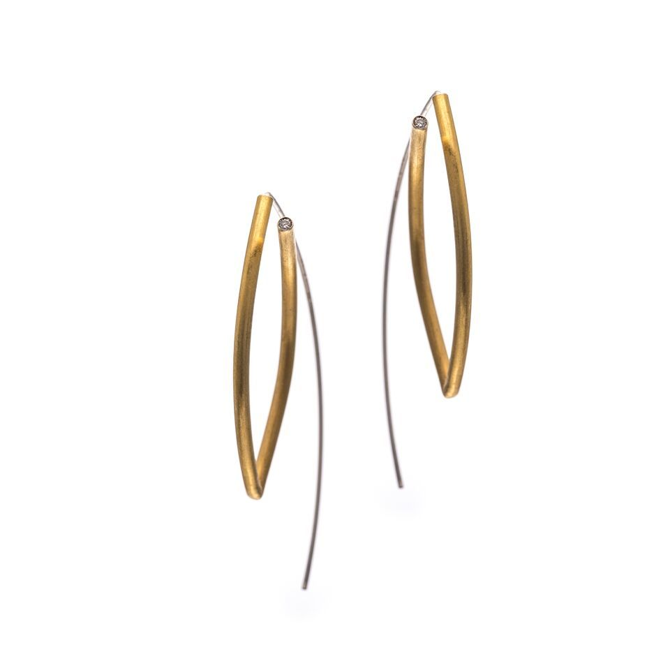 Drop | GOLD PLATED EARRINGS With ZIRCON - product image