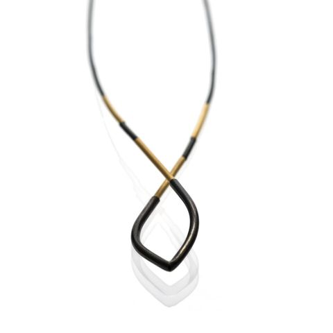 Drop,|,OXIDISED,&,GOLD,PLATED,SILVER,NECKLACE,Oxidised Silver Necklace, gold plated silver necklace, bespoke jewellery