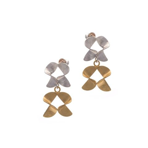 Frolic,|,GOLD,PLATED,SILVER,STUD,EARRINGS,Gold Plated Silver Earrings, silver stud earrings, jewellery online store