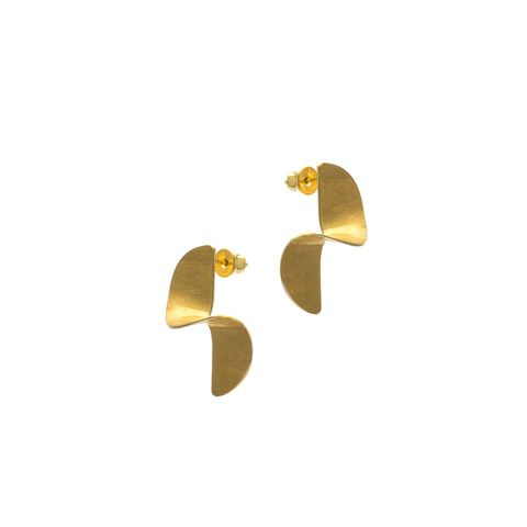 Full,Twisted,|,GOLD,PLATED,STUD,EARRINGS,Gold Plated Stud Earrings, silver studs, handmade jewellery online