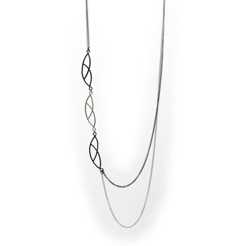Na,3,|,OXIDISED,SILVER,CHAIN,NECKLACE,Oxidised Silver Necklace, silver chain necklace, handmade jewellery