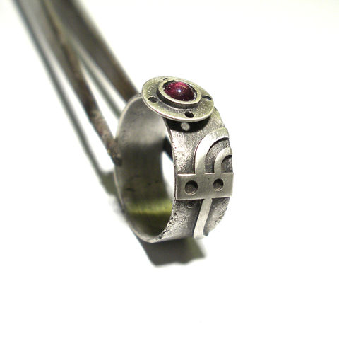 Hydro,Puzzle,|,SILVER,GARNET,RING,Silver Garnet Ring, silver band ring, bespoke handmade jewellery