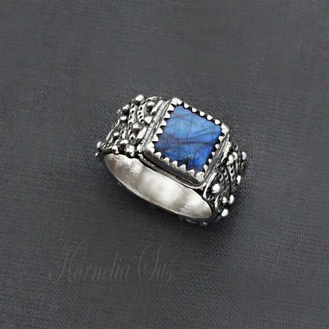 Blue,Dragon,|,LABRADORITE,SILVER,RING,Labradorite Silver Ring, Silver labradorite ring, crafted jewellery