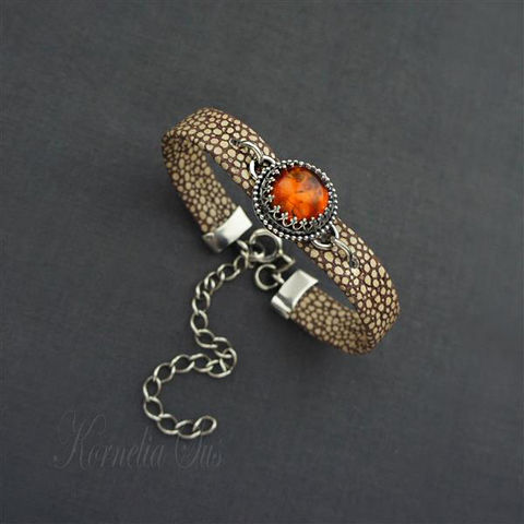 Following,The,Light,|,Strap,Amber,Bracelet,Following The Light Strap Amber Bracelet , artisan jewellery