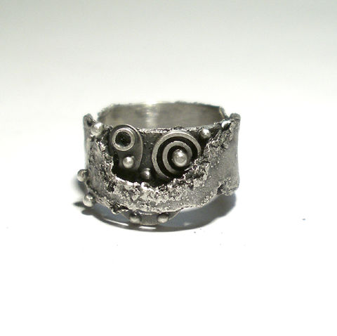 Cosmic,|,SILVER,STEAMPUNK,BAND,RING,Silver Steampunk Ring, silver band ring, bespoke handmade jewellery