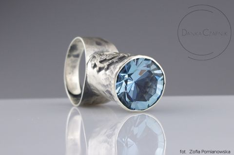SILVER,RING,With,SWAROVSKI,CRYSTAL,Silver Ring With Swarovski Crystal, Swarovski crystal ring, silver jewellery