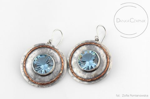 SILVER,SWAROVSKI,CRYSTAL,HOOPS,Silver Swarovski Crystal Hoops, Swarovski Crystal earrings, silver jewellery