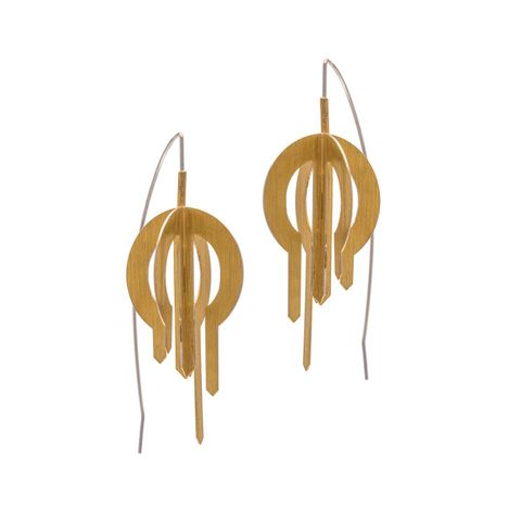Rollo,|,GOLD,PLATED,DANGLE,EARRINGS,Gold Plated Dangle Earrings, Silver earrings, silver jewellery
