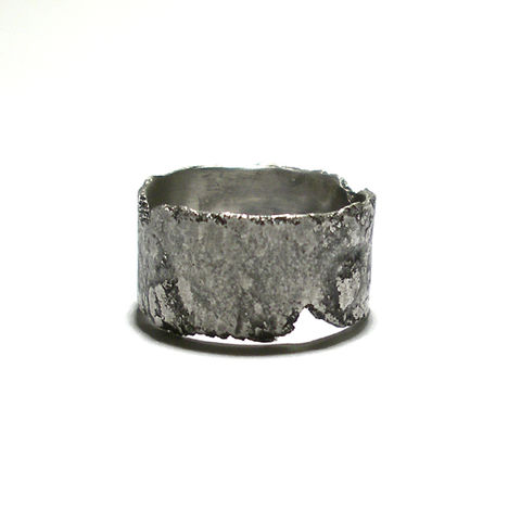 Technic,|,STERLING,SILVER,BAND,RING,Sterling Silver Ring, oxidised band ring, norman man jewellery