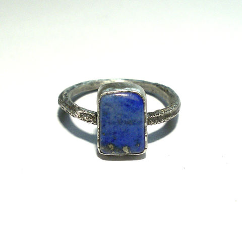 SILVER,RING,With,LAPIS,LAZULI,Silver Ring With Lapis Lazuli, norman man jewellery
